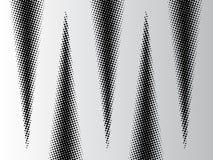 Abstrakter Hintergrund mit Halbtoneffektschwarzdreiecken vektor abbildung