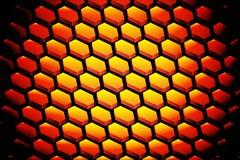Abstrakter Hintergrund mit Hexagon lizenzfreies stockfoto