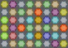 Abstrakter Hintergrund mit Hexagonen stock abbildung
