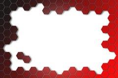 Abstrakter Hintergrund mit Hexagonen Lizenzfreie Stockfotografie