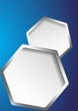 Abstrakter Hintergrund mit Hexagones Stockfotografie