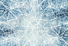 Abstrakter Hintergrund mit Kaleidoskopeis zersplittert Muster Stockbild