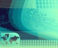 Abstrakter Hintergrund mit Karte. Lizenzfreies Stockfoto