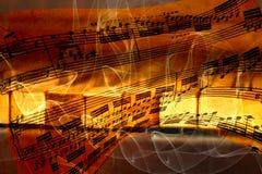 Abstrakter Hintergrund mit Klaviertasten Stockbilder