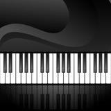 Abstrakter Hintergrund mit Klaviertasten Stockfoto