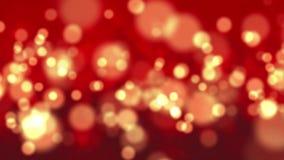 Abstrakter Hintergrund mit Kreisen und Lichtern, Nachtlichter, Shop beleuchtet Autolicht stock video