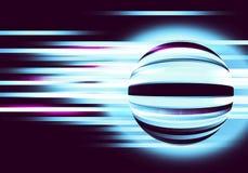 Abstrakter Hintergrund mit Kreisen und Linien Bewegung Lizenzfreies Stockfoto