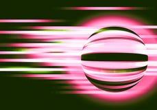 Abstrakter Hintergrund mit Kreisen und Linien Bewegung Stockbild