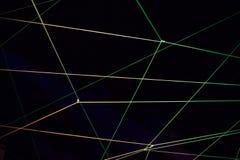 Abstrakter Hintergrund mit Laserlicht Stockbild