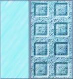 Abstrakter Hintergrund mit Linien und Quadraten Stockbild