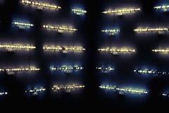 Abstrakter Hintergrund mit Lumineszenzlampen Lizenzfreies Stockfoto