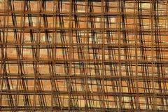 Abstrakter Hintergrund mit Masche und Ziegelsteinen Stockbild