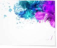 Abstrakter Hintergrund mit modernem swirly Design Lizenzfreie Stockbilder