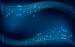 Abstrakter Hintergrund mit musikalischen Anmerkungen Stockbild