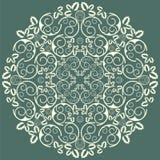 Abstrakter Hintergrund mit nahtlosem Muster des Damastes Stockbild
