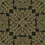 Abstrakter Hintergrund mit nahtlosem Muster des Damastes Stockfotografie