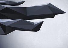 Abstrakter Hintergrund mit niedrigen Polykristallen vektor abbildung