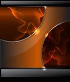 Abstrakter Hintergrund mit orange Rauche und glattem b Stockfotografie