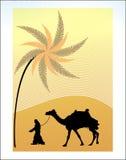 Abstrakter Hintergrund mit Palme Lizenzfreies Stockfoto