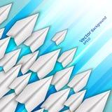Abstrakter Hintergrund mit Papierflugzeugen vektor abbildung
