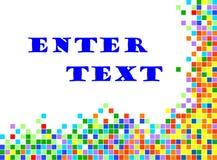 Abstrakter Hintergrund mit Pixeln Lizenzfreie Stockfotografie