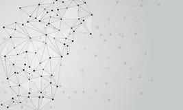 Abstrakter Hintergrund mit Punkten und Linien Stockfotos
