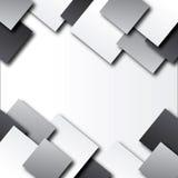 Abstrakter Hintergrund mit Quadraten Stockbild