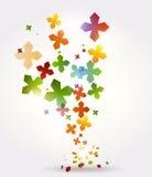 Abstrakter Hintergrund mit Regenbogenformen Lizenzfreies Stockfoto
