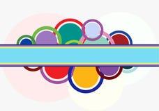 Abstrakter Hintergrund mit Ringen. Stockbild