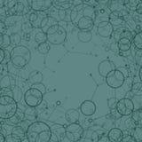 Abstrakter Hintergrund mit Ringen und Linie Lizenzfreie Stockfotos