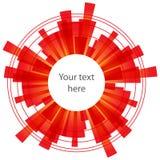 Abstrakter Hintergrund mit roten Elementen auf Weiß Lizenzfreies Stockfoto