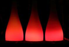 Abstrakter Hintergrund mit roten Lampenschirmen Stockbild