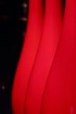 Abstrakter Hintergrund mit roten Lampenschirmen Stockfotografie