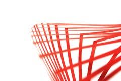 Abstrakter Hintergrund mit roten Papierstreifen Stockfotos