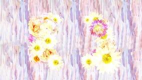 Abstrakter Hintergrund mit schönen Blumen, führen Aquarell durch stock footage