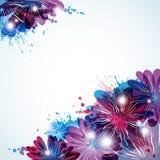 Abstrakter Hintergrund mit Schönheitsflorenelementen Lizenzfreie Stockfotografie