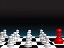Abstrakter Hintergrund mit Schachstücken Stockbild