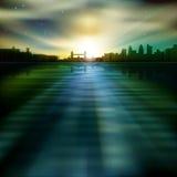 Abstrakter Hintergrund mit Schattenbild von London Lizenzfreies Stockbild
