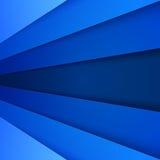 Abstrakter Hintergrund mit Schichten des blauen Papiers Stockbild