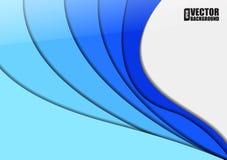 Abstrakter Hintergrund mit Schichten des blauen Papiers Auch im corel abgehobenen Betrag Stockfoto