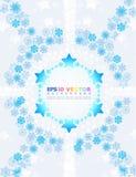 Abstrakter Hintergrund mit Schneeflocken. Stockfotografie