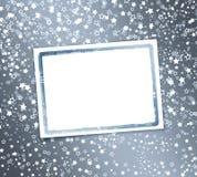 Abstrakter Hintergrund mit Schneeflocken, Sterne vektor abbildung