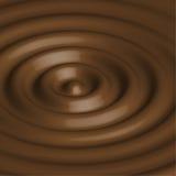 Abstrakter Hintergrund mit Schokoladenkreisen Stockfotos