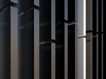 Abstrakter Hintergrund mit Schwarzweiss-Linien Stockfotografie