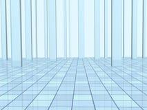 Abstrakter Hintergrund mit Spalten und einem mit Ziegeln gedeckten Fußboden Stockbild