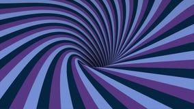 Abstrakter Hintergrund mit spinnendem Helix der Animation Abstrakter wirbelnder bunter Trichter Drehender Regenbogenstrudel vektor abbildung