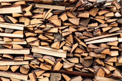Abstrakter Hintergrund mit Stapel Holz Lizenzfreies Stockbild