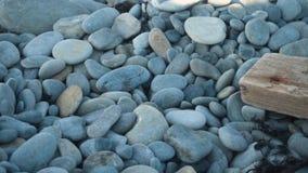 Abstrakter Hintergrund mit Steinen Kiesel, Küste Zusammenfassungshintergrund mit Steinen stock video footage