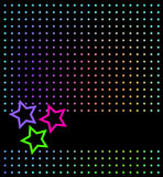 Abstrakter Hintergrund mit Sternen Lizenzfreies Stockbild