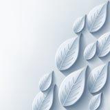 Abstrakter Hintergrund mit stilvollem Blatt des Graus 3d Stockfotografie